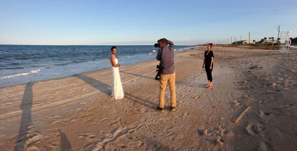 Nia behind the scenes